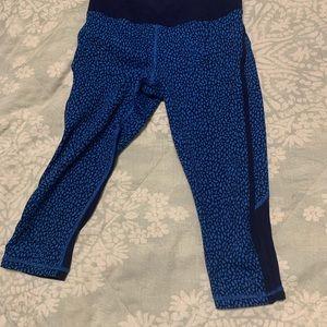 Lululemon us4 blue crop tights leggings